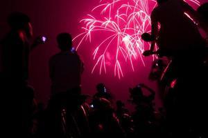 todo mundo vê os fogos de artifício foto