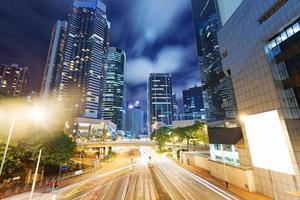cidade de hong kong à noite foto