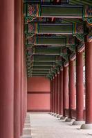 pilares no palácio gyeongbukgong foto