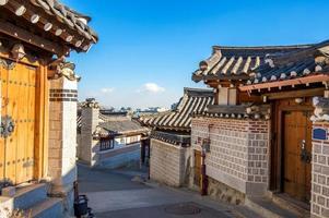 vila bukchon hanok, estilo coreano tradicional foto