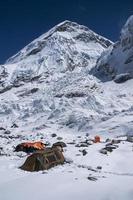 acampamento base do everest foto