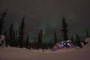 acampamento luzes do norte foto
