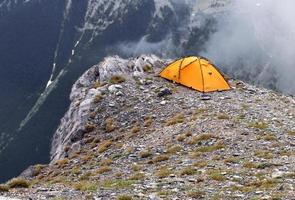 acampar no topo da grécia