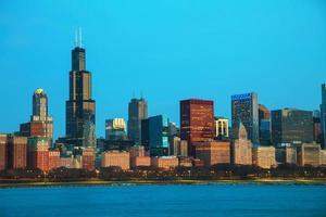 paisagem urbana no centro de chicago foto