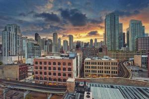 Chicago no centro.