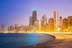 centro de chicago e lago michigan foto