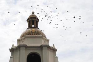 bando de pássaros sobre santa fe estação san diego foto