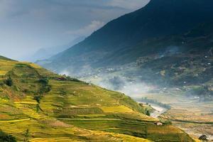 belo terraço de arroz em sapa, vietnã