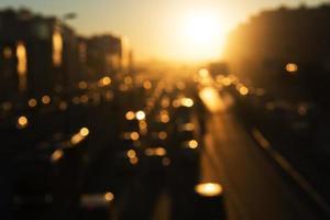 Crepúsculo de tráfego em Istambul