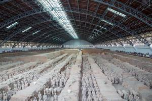 exército de terracota da dinastia qin, xian (sian), china foto