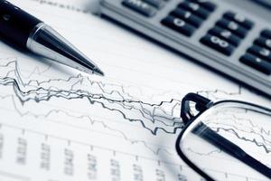 gráficos do mercado de ações foto
