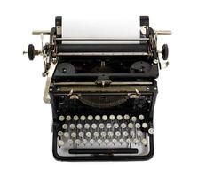 máquina de escrever vintage com teclado cirílico foto