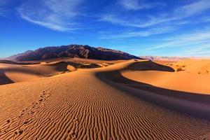 manhã ensolarada no vale da morte foto