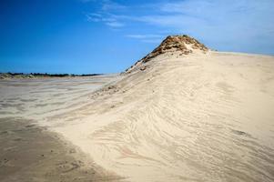 duna de areia em łeba / polônia foto