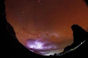 lapso de tempo da torre de lava foto