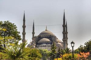 vista sobre a mesquita azul foto