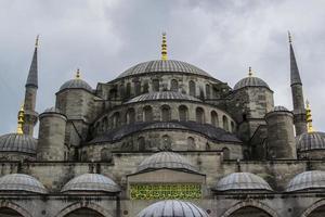Mesquita do sultão Ahmed em Istambul, Turquia foto