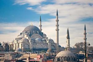 a mesquita suleymanie (distrito de fatih). Istambul. foto