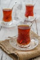 chá turco tradicional foto