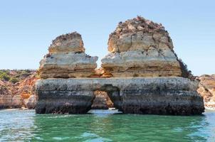 formações rochosas perto de lagos vistos da água