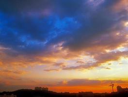 pôr do sol. foto