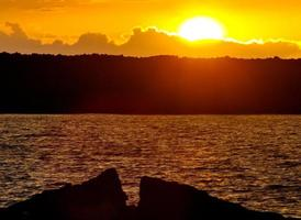 pôr do sol do havaí foto
