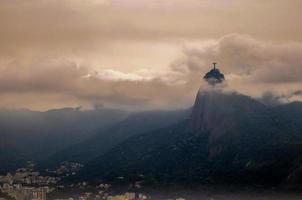 o cristo do corcovado, o redentor. Rio de Janeiro, Brasil foto