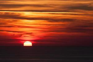 pôr do sol dramático