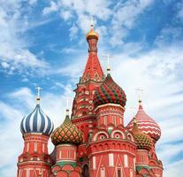 cúpulas da famosa cabeça st. catedral de manjericão foto