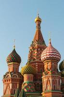 st. Catedral de manjericão na Praça Vermelha de Moscou, Rússia foto