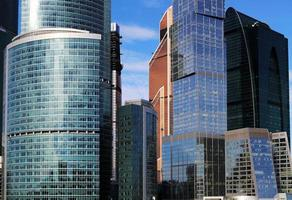arranha-céus do centro internacional de negócios (cidade), moscou, rússia foto