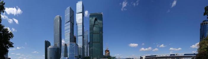 panorama do centro internacional de negócios em Moscou, Rússia foto