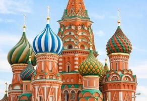 st. Catedral de manjericão na Praça Vermelha, Moscou, Rússia