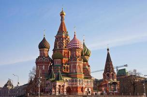 st. Catedral de manjericão na Praça Vermelha, Moscou foto