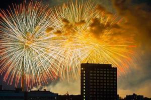 fogo de artifício sobre Moscou. Rússia