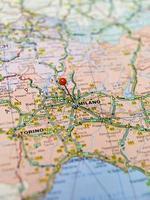 mapa de milano foto