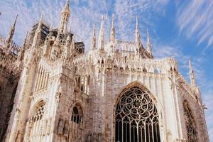 catedral duomo di milano em Milão, Itália foto