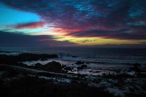 pôr do sol do oceano pacífico