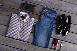 designer de roupas masculinas. foto