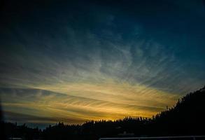 Vancouver tarde pôr do sol foto