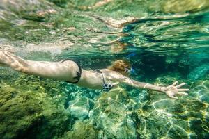 mergulho feminino foto