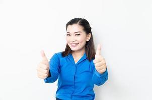 imagem de uma jovem mulher asiática com um olhar encantador foto