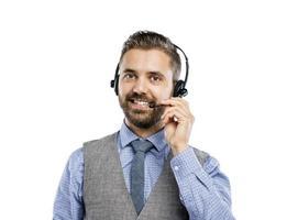 operador de call center foto