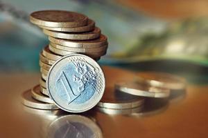 dinheiro em euros. foto