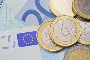 dinheiro do euro (plano de fundo) foto