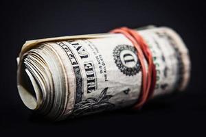 rolo de dinheiro foto