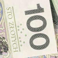 fundo de dinheiro polonês foto
