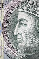 wladyslaw jagiello, com dinheiro polonês foto