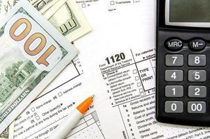 formulário fiscal 1120 foto