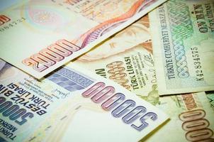 coleção de dinheiro turco foto